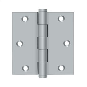 "3 1/2""x 3 1/2"" Square Hinge, Residential - Brushed Chrome"