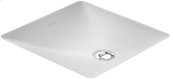 Undercounter washbasin (square) Angular - White Alpin