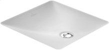 Undercounter washbasin (square) Angular - White Alpin