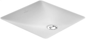 Undercounter washbasin (square) Angular - White Alpin CeramicPlus