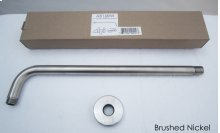 "AB16RW 16"" Round Wall Mounted Brushed Nickel Shower Arm for Round Rain Shower Heads"