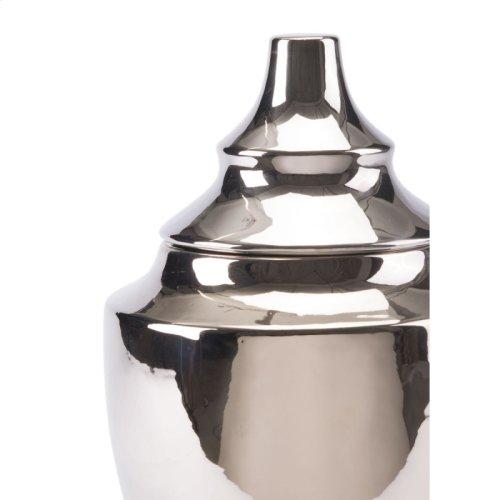 Pyramid Md Vase Silver