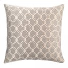 Andante Contemporary Decorative Feather and Down Throw Pillow In Dove Jacquard Fabric Product Image