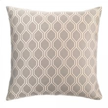 Andante Contemporary Decorative Feather and Down Throw Pillow In Dove Jacquard Fabric
