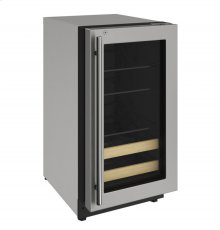 """2000 Series 18"""" Beverage Center With Stainless Frame (lock) Finish and Right-hand Hinged Door Swing (115 Volts / 60 Hz)"""