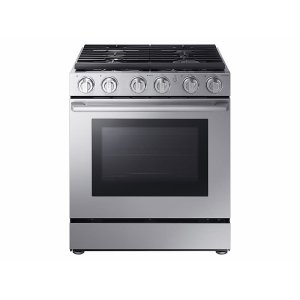 "Samsung Appliances5.8 cu. ft. 30"" Chef Collection Professional Gas Range with Dual Convection in Stainless Steel"