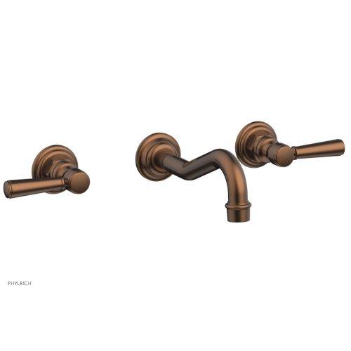 HENRI Wall Tub Set - Lever Handles 161-57 - Antique Copper