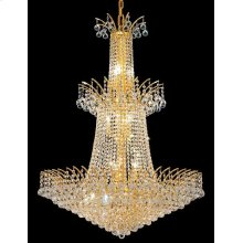 8031 Victoria Collection Large Hanging Fixture Gold Finish