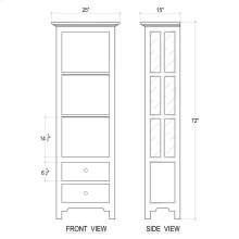 Aries Bookcase w/o Door