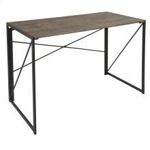 Dakota Office Desk - Black Metal, Wood