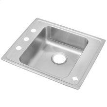 "Elkay Lustertone Classic Stainless Steel 25"" x 22"" x 5"", Single Bowl Drop-in Classroom ADA Sink"