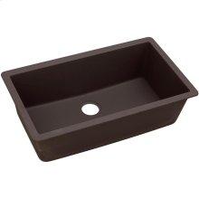 "Elkay Quartz Luxe 33"" x 18-7/16"" x 9-7/16"", Single Bowl Undermount Sink, Chestnut"
