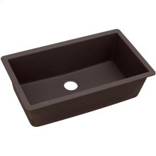 "Elkay Quartz Luxe 33"" x 18-7/16"" x 9-7/16"", Single Bowl Undermount Sink, Chestnut"