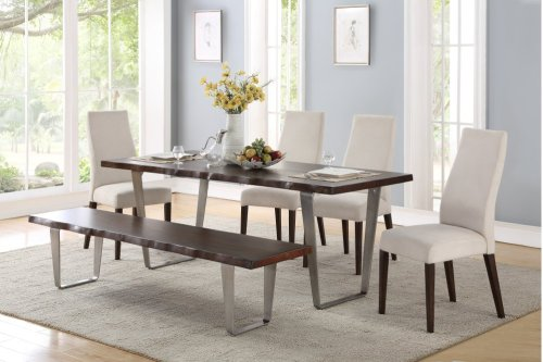 Emerald Home Sommerville Dining Bench Sterling Gray D205-36