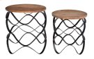 Bengal Manor Wavy Iron Set of Tables w/ Wood Top Product Image