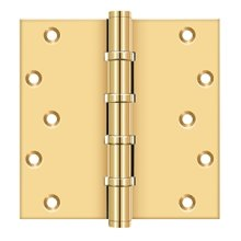 """6"""" X 6"""" Square Hinges, Ball Bearings - PVD Polished Brass"""