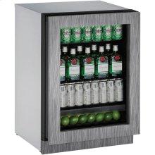 """2224RGL Refrigerator 24"""" RHH Glass Door"""