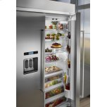 KitchenAid 29.5 cu. ft 48-Inch Width Built-In Side by Side Refrigerator - Stainless Steel