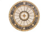 "Compass 30"" Round Marble Mosaic Table Top"