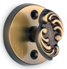 Ornate Round Turnpiece - Solid Brass in MB (MaxBrass® PVD Plated)