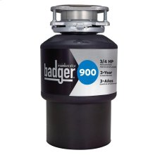 Badger 900 Garbage Disposal, 3/4 HP