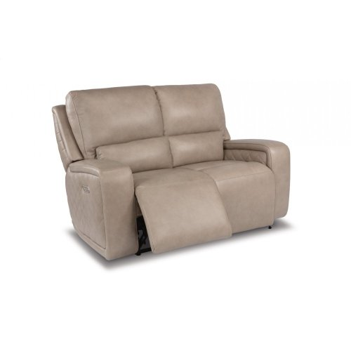 Blade Leather Power Reclining Loveseat with Power Headrests