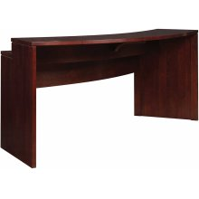 Wood Top High Line Curved Gathering Island