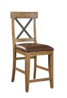 "Emerald Home Chandler 24"" Bar Stool Dark Walnut Finish D100-24 Product Image"