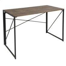 Dakota Office Desk - Black Metal, Wood
