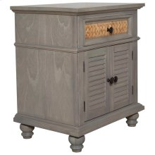 2 Drawer Night Stand, Available in Seaside Grey only.