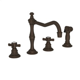 Weathered Copper - Living Kitchen Faucet with Side Spray