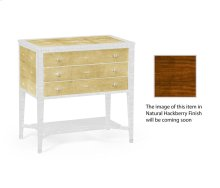 Ivory Shagreen Chest of Drawers for Brass