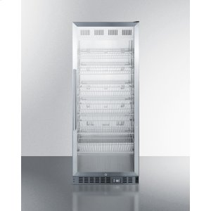 SummitMid-sized Pharmaceutical All-refrigerator With Stainless Steel Construction Inside and Out, Digital Controls, and Self-closing Glass Door