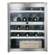 """Wine storage unit RW 404 760 under-counter, stainless steel framed glass door Niche width 24"""" (60 cm),"""