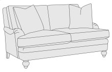 Hutton Loveseat in Mocha (751)