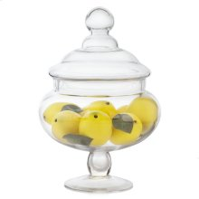 Lemons In Glass Apothecary Jar