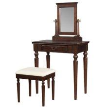"""Brown Cherry"" Vanity, Mirror & Bench"