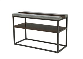 Emerald Home Stoneworks Sofa Table-wood-concrete-metal Merlot/ Natural Stone T517-02