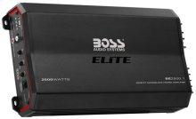 "Elite 2500W Monoblock, Class A/B Amplifier Dimensions 10""L 7""W 2.25""H"