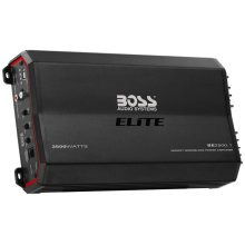 "Elite 2500W Monoblock, Class A/B Amplifier Dimensions 12.75""L 7""W 2.5""H"