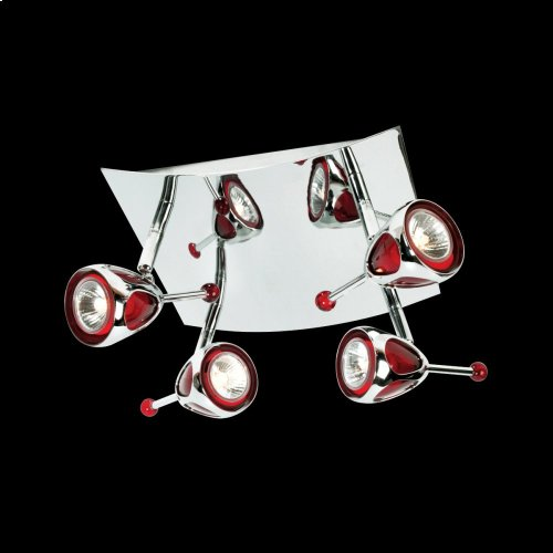4-LIGHT FLUSHMOUNT - Chrome