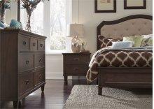 King Panel Bed, Dresser & Mirror, NS