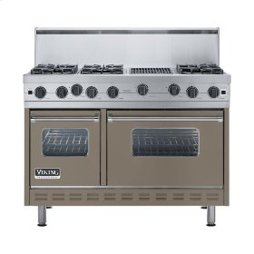 "Stone Gray 48"" Open Burner Range - VGIC (48"" wide, six burners 12"" wide char-grill)"