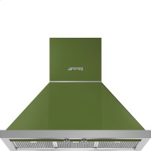 "30"" Portofino Chimney Hood, Olive Green"
