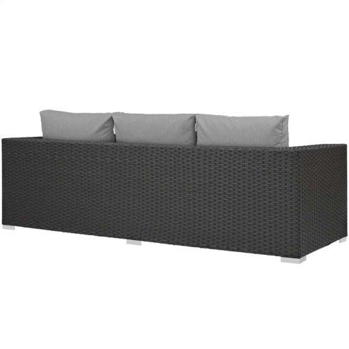 Sojourn Outdoor Patio Sunbrella® Sofa in Canvas Gray