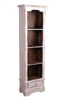 CC-CAB1917TLD-WWRW  Cottage Narrow Bookcase