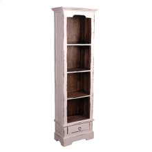 CC-CAB1917TLD-WWRW  Cottage Narrow Bookcase