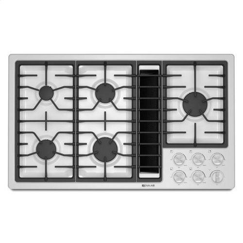 """Jenn-Air® 36"""" JX3™ Gas Downdraft Cooktop - White"""