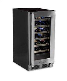 "15"" High Efficiency Single Zone Wine Cellar - Panel Overlay, Frame Ready Glass Door - Integrated Left Hinge"