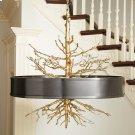 Twig Pendant-Brass w/Bronze Shade Product Image